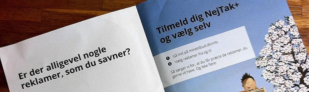 Brochuren Nej Tak+ fra Minetilbud.dk
